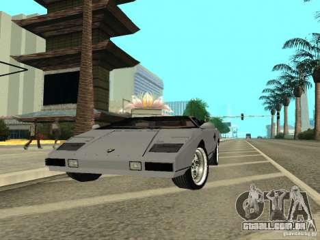 Lamborghini Countach LP400 para GTA San Andreas vista direita