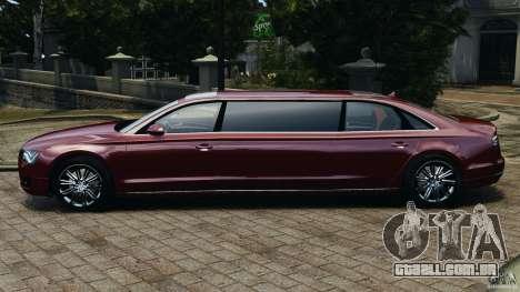 Audi A8 Limo v1.2 para GTA 4 esquerda vista