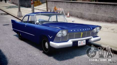 Plymouth Savoy Club Sedan 1957 para GTA 4 vista de volta