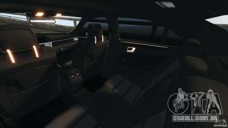 Mercedes-Benz E63 AMG 2010 para GTA 4 vista interior
