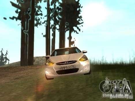 Hyundai Solaris para GTA San Andreas traseira esquerda vista
