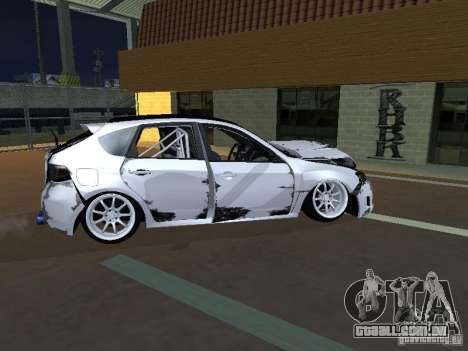 Subaru Impreza STI hellaflush para GTA San Andreas vista interior