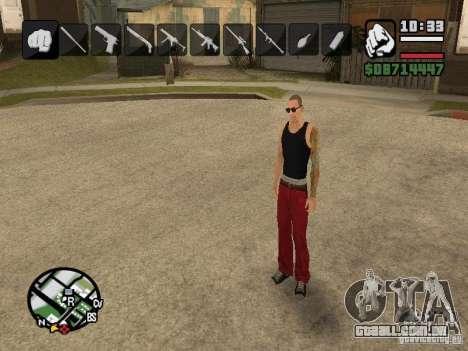 Ícones quando mudar de armas para GTA San Andreas segunda tela