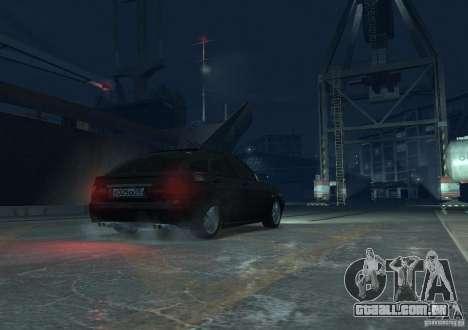 Hatchback de LADA priora para GTA 4 vista de volta
