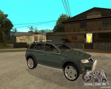 Volkswagen Touareg V10TDI 4x4 para GTA San Andreas vista direita