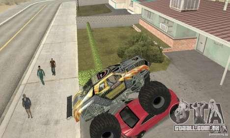 Monster Truck Maximum Destruction para GTA San Andreas vista interior