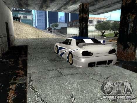 Vinil com o BMW M3 GTR em Most Wanted para GTA San Andreas traseira esquerda vista