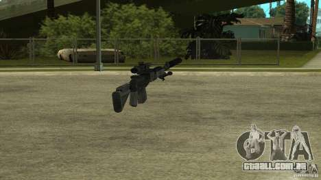 EBR MK14 com silenciador para GTA San Andreas quinto tela