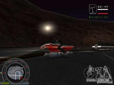 NEW NRG-500 para GTA San Andreas traseira esquerda vista
