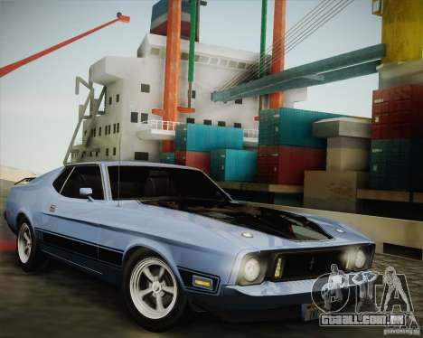 Ford Mustang Mach1 1973 para GTA San Andreas traseira esquerda vista