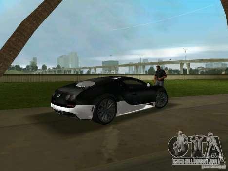 Bugatti Veyron Extreme Sport para GTA Vice City vista traseira esquerda