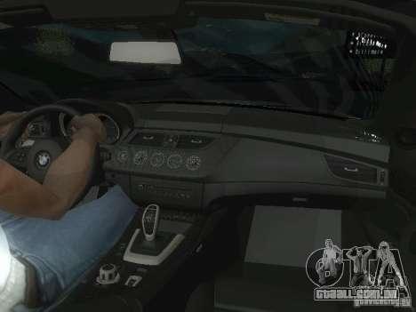 BMW Z4 para GTA San Andreas interior