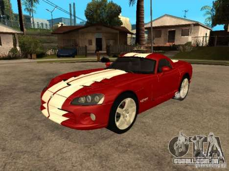 Dodge Viper Coupe 2008 para vista lateral GTA San Andreas