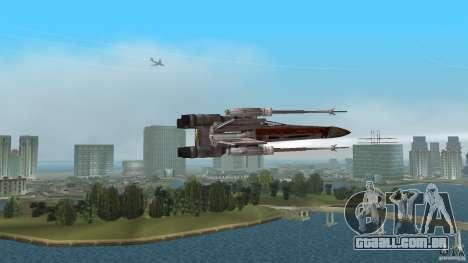 X-Wing Skimmer para GTA Vice City vista traseira esquerda