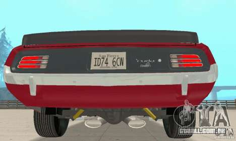 Plymouth Cuda AAR 340 1970 para GTA San Andreas