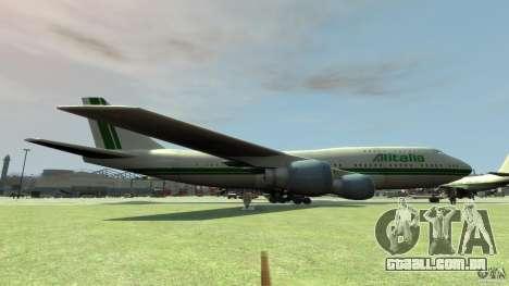 Alitalia para GTA 4 esquerda vista