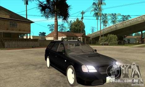 Subaru Legacy Station Wagon para GTA San Andreas vista traseira