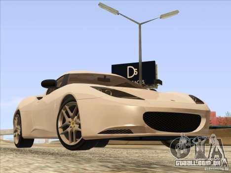 Lotus Evora para GTA San Andreas traseira esquerda vista