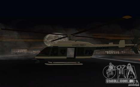 GTA IV Police Maverick para GTA San Andreas vista direita