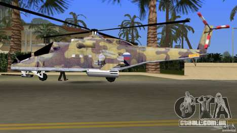 Mi-24 HindB para GTA Vice City vista interior