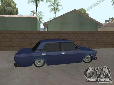 VAZ-2107 v2 para GTA San Andreas esquerda vista