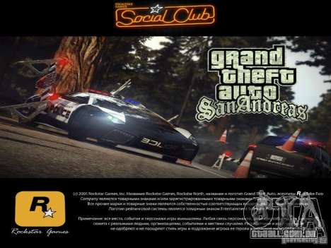 Novas telas de carregamento 2011 para GTA San Andreas terceira tela