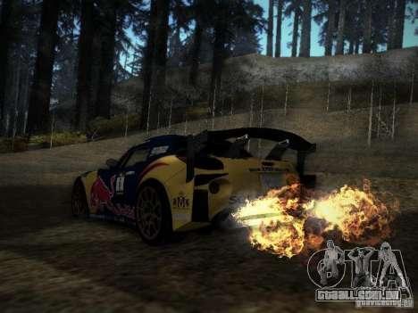 Pontiac Solstice Redbull Drift v2 para GTA San Andreas traseira esquerda vista