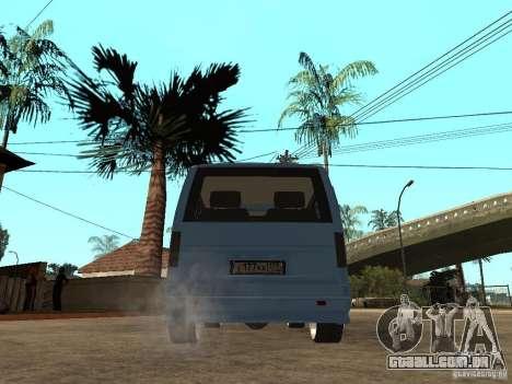 Gaz-2217-Barguzin Sable para GTA San Andreas traseira esquerda vista