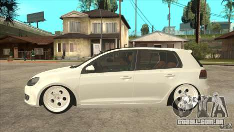 Volkswagen Golf VI 2010 Stance Nation para GTA San Andreas esquerda vista