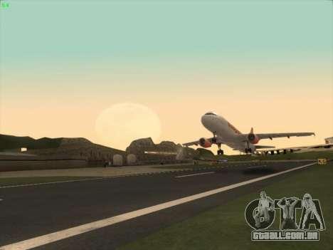 Airbus A320-214 EasyJet para GTA San Andreas vista direita
