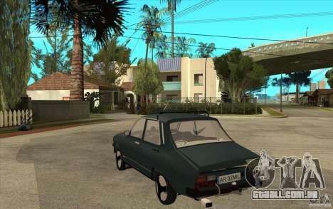 Dacia 1300 Cocalaro Tzaraneasca para GTA San Andreas traseira esquerda vista