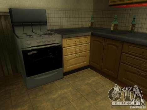 CJ em casa nova para GTA San Andreas sexta tela