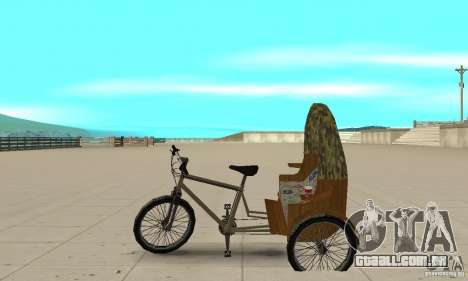 Manual Rickshaw v2 Skin2 para GTA San Andreas esquerda vista