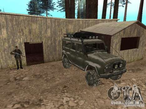 UAZ-31519 do COD MW2 para GTA San Andreas vista superior