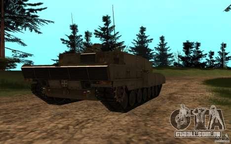 Leopard 2a7 para GTA San Andreas traseira esquerda vista