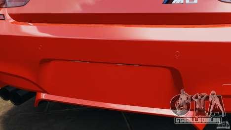 BMW M6 F13 2013 v1.0 para GTA 4 interior