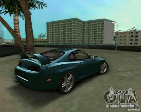 Toyota Supra para GTA Vice City vista traseira esquerda