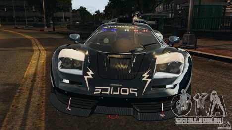McLaren F1 ELITE Police [ELS] para GTA 4 vista interior