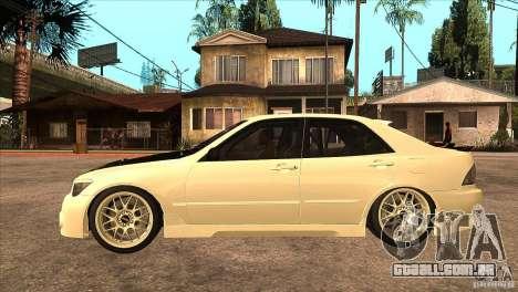 Toyota Altezza RS200 JDM Style para GTA San Andreas esquerda vista