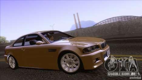 BMW M3 E48 para GTA San Andreas vista traseira