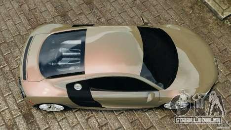Audi R8 V10 2010 para GTA 4 vista direita