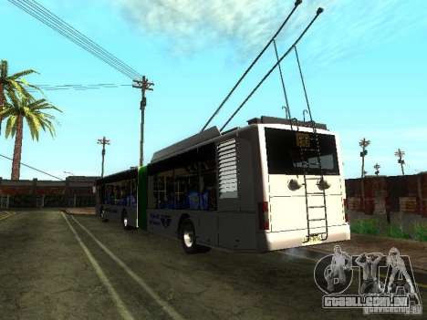 Trólebus LAZ E301 para GTA San Andreas vista traseira