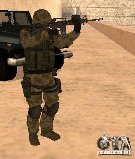 Ranger Army Skin Mod para GTA San Andreas segunda tela