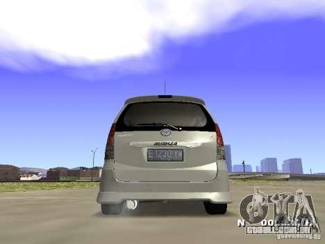 Toyota Avanza Street Edition para GTA San Andreas esquerda vista
