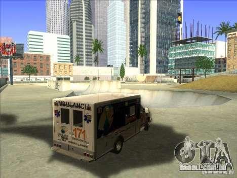 Ford E-350 Ambulance para GTA San Andreas vista direita