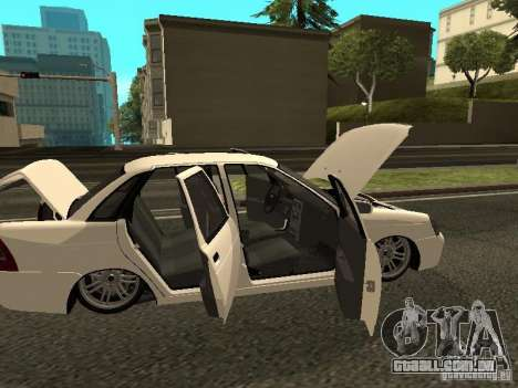 Lada 2170 Priora para GTA San Andreas vista interior