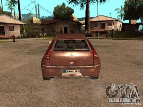Citroen C4 para GTA San Andreas vista traseira
