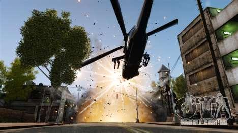 Um helicóptero com um RPG para GTA 4 vista de volta