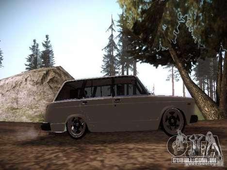 Ar Vaz 2104 para GTA San Andreas vista traseira