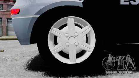 Chevrolet Corsa 2012 PMESP ELS para GTA 4 vista de volta